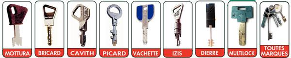 toutes sortes de clés